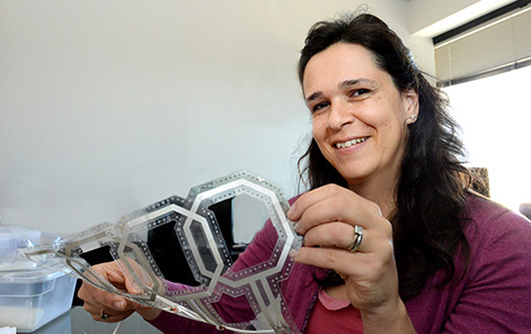 Ana Claudia Arias has developed a technology to print lightweight electronic circuits and devices onto thin films.