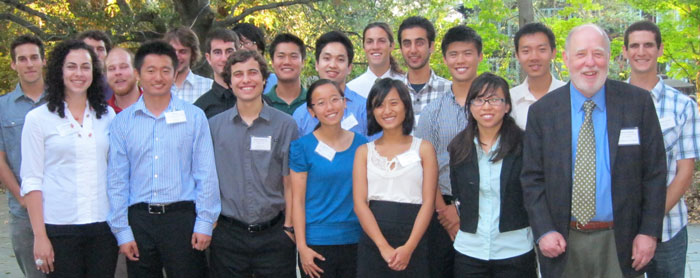 2011 Cal Energy Corps participants with Vice Chancellor for Research Graham Fleming