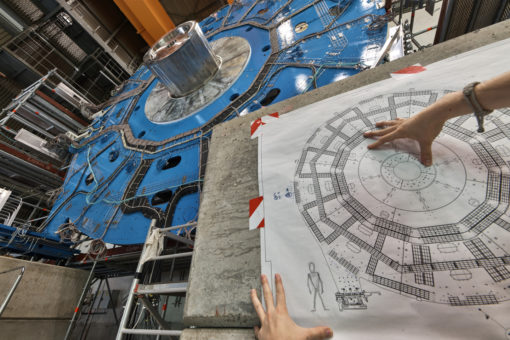 A new wheel-shaped muon detector is part of the ATLAS detector upgrade at CERN.