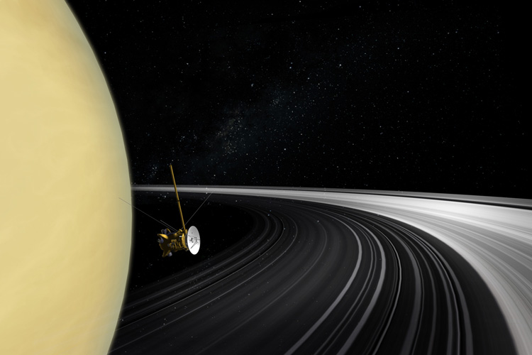 Cassini near Saturn