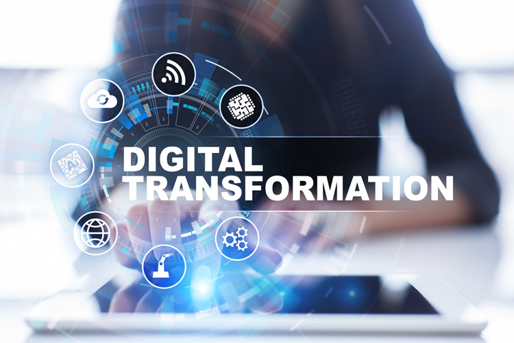 Digital Transformation stock image