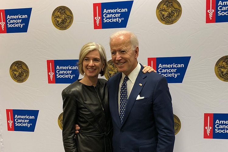 Doudna and Joe Biden