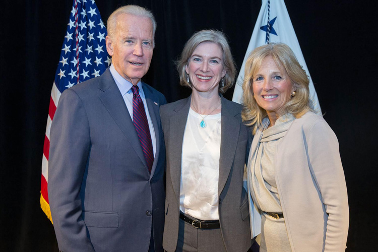 Doudna with Joe and Jill Biden