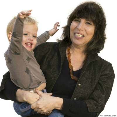 photo of Alison Gopnik holding her grandson Atticus