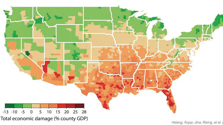 Study maps out dramatic costs of unmitigated climate change in the