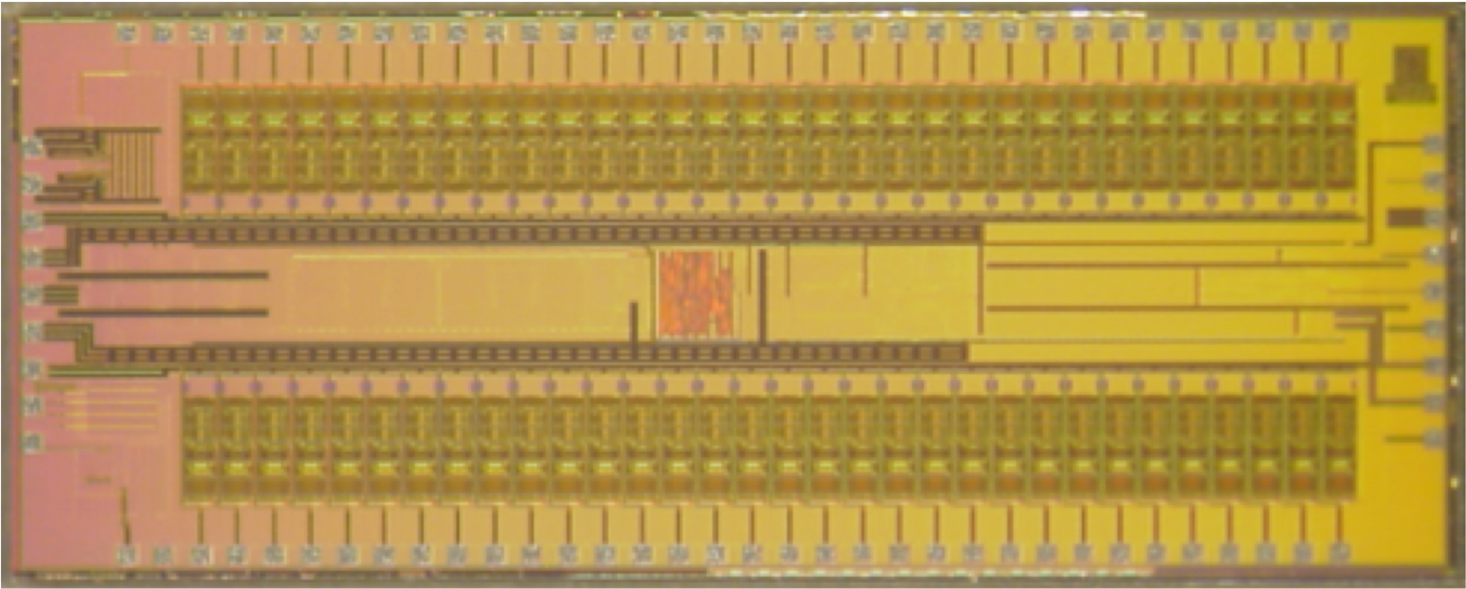 A close up picture of an integrated circuit