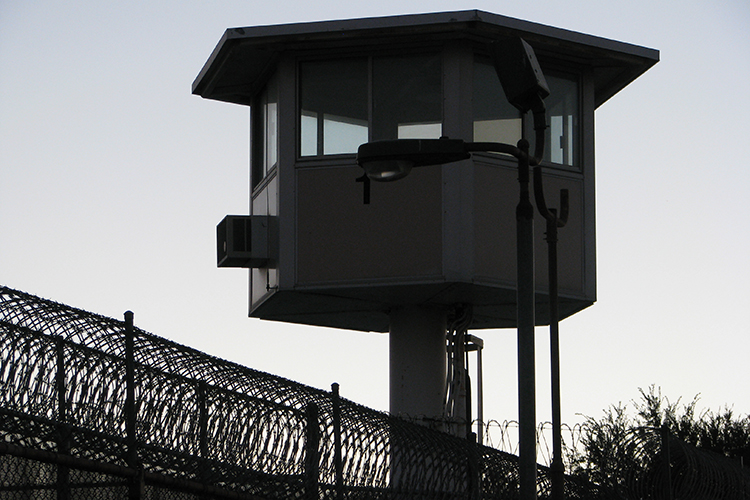 Photo of a prison guard tower.