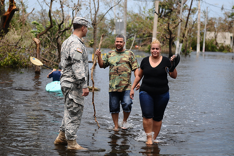 Puerto Rico Soldier Helping
