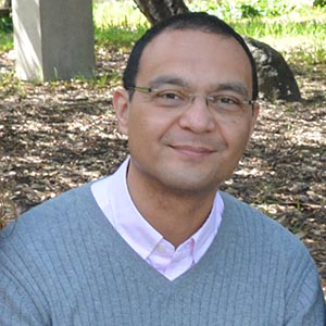 A close-up portrait of Rodolfo Mendoza-Denton, co-principal investigator of the UC Berkeley-led Research University Alliance.