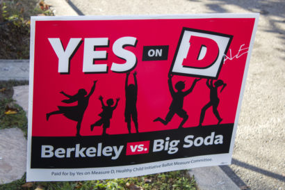 "A photo of a ""Yes on D"" campaign poster"