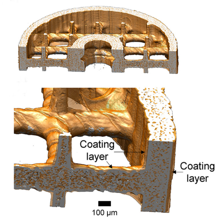 cross section through absorber