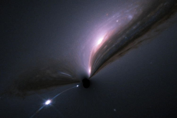 black hole lensing supernova and galaxy