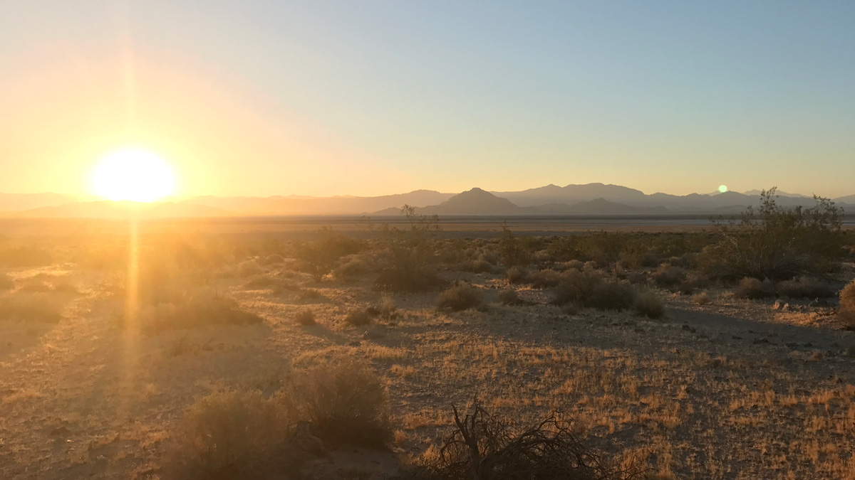 Sunrise in the Mojave Desert