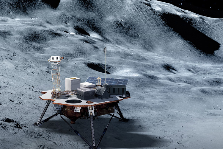 lander on moon's surface