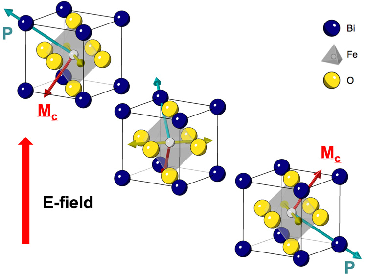 multiferroic crystal structure