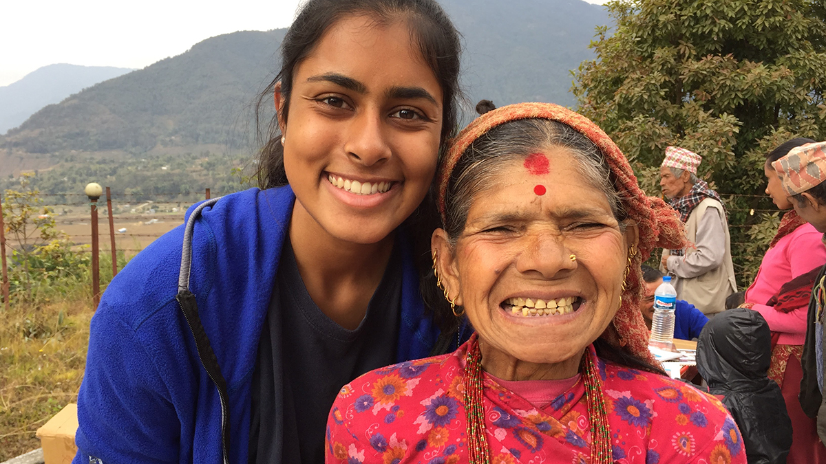 Neha Zahid at a dental health intervention in Nepal