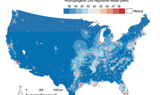 Spatial distribution map USA