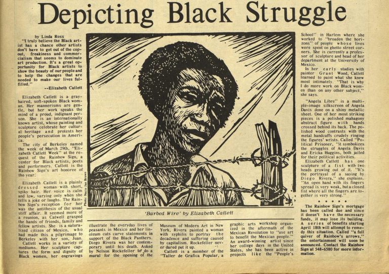 """Barbed Wire"" by Elizabeth Catlett"