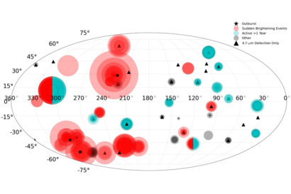 All hot spots detected are shown on a map of Io