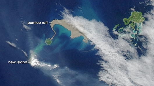 Satellite image of Tonga
