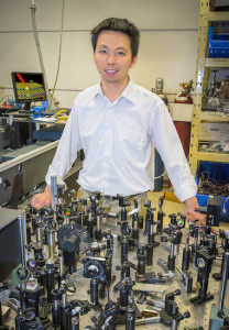 Feng Wang is a condensed matter physicist with Berkeley Lab's Materials Sciences Division and UC Berkeley's Physics Department. Photo: Roy Kaltschmidt