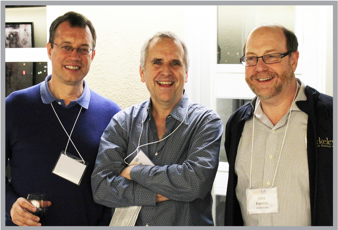 AMP Lab co-directors Ion Stoica and Mike Jordan and director Mike Franklin