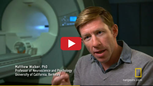 "UC Berkeley neuroscientist Matthew Walker is featured in ""Sleepless in America,"" a documentary that airs this Sunday, Nov. 30, on the National Geographic Channel (National Geographic photos)"