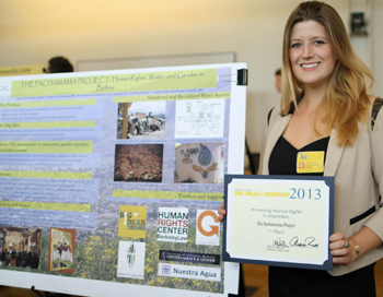 A water project Peters worked on in Bolivia was a winner in UC Berkeley's 2013 Big Ideas contest.