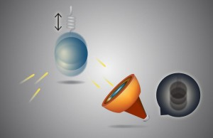"Mechanical oscillators translate an applied force into measureable mechanical motion. The Standard Quantum Limit is imposed by the Heisenberg uncertainty principle, in which the measurement itself perturbs the motion of the oscillator, a phenomenon known as ""quantum back-action."" Image: Kevin Gutowski."