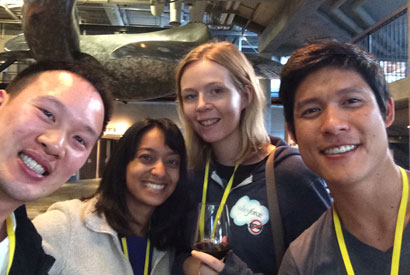 Winning I School team members Jenton Lee, Isha Dandavate, Kate Rushton, and Dan Tsai. Photo: Isha Dandavate