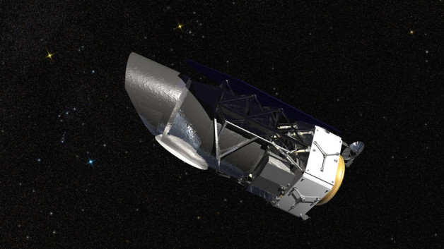 A rendering of NASA's Wide Field Infrared Survey Telescope (WFIRST)