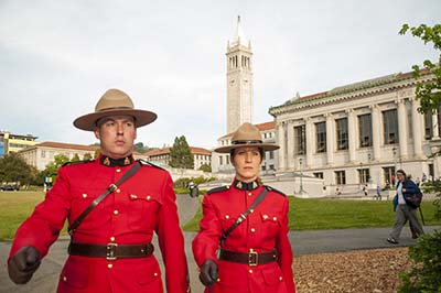 Royal Canadian Mounted Police on the UC Berkeley campus.