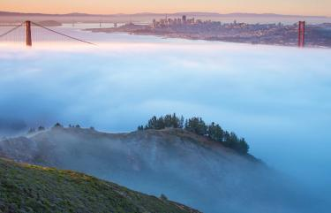 Bay Area, Golden Gate Bridge, fog