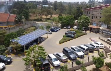 solar panels on top of car park