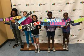 Participants in the Girls' STEM camp