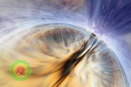 Animation of event horizon of a black hole