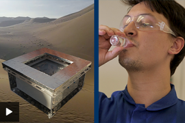 drinking water captured by air