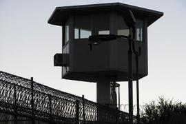 Photo of a prison guard tower
