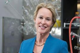 Frances Arnold in lab