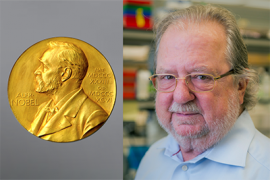 James Allison and Nobel medal
