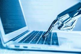 Artificial intelligence and laptop