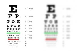 vision charts illustrating good and poor vision