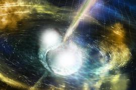 Neutron Star Merger Illustration
