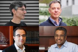 four newly elected faculty