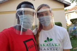 Berkeley Ph.D. student Paige Balcom and Peter Okwoko, a Ugandan environmental and community activist, are the cofounders of Takataka Plastics, a social enterprise in Gulu, Uganda