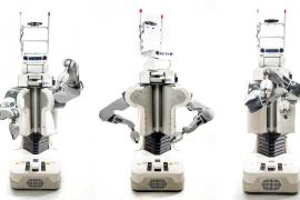Three poses of BRETT robot