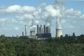 Working coal-fired power plant near Aachen, Germany