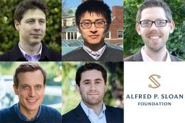 collage of 5 new Sloan Research Fellows