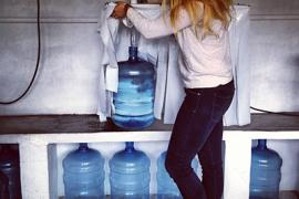 Rebecca Peters works on a water purification project in Chiapas, Mexico.