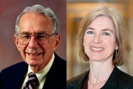 Arthur Rosenfeld and Jennifer Doudna